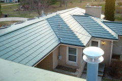 Oxford Metal Roofing Shingle in Forest Green