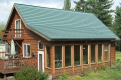 Rustic Metal Roofing Shingle in Forest Green