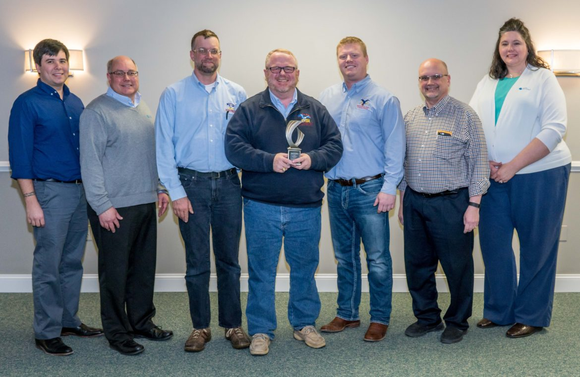 Award from Classic Metal Roofing Systems for AMR of WI