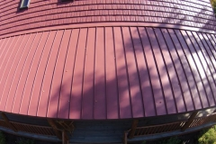 Standing Seam Roofing in Terra Red