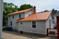 Standing Seam Roofing in Copper Penny