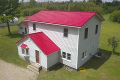 Oxford Metal Roofing Shingle in Bright Red