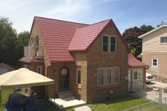 Oxford Metal Roofing Shingle in Terra Red