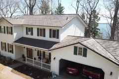 Oxford Metal Roofing Shingle in Mustang Browns