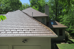 Rustic Metal Roofing Shingle in Caramel
