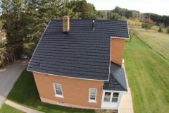 Rustic Metal Roofing Shingle in Pearl Black