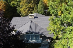 Rustic Metal Roofing Shingle in Shake Gray