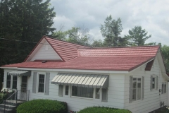 Rustic Metal Roofing Shingle in Terra Red