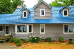 Rustic Metal Roofing Shingle in Oceanside Blue