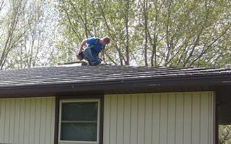 installer on roof