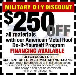 Military DIY Discount - $250 off
