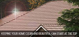clean metal roofing