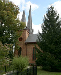 church with spires