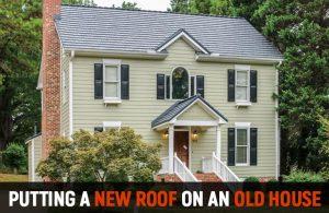 Metal Roof Old House AMRWI