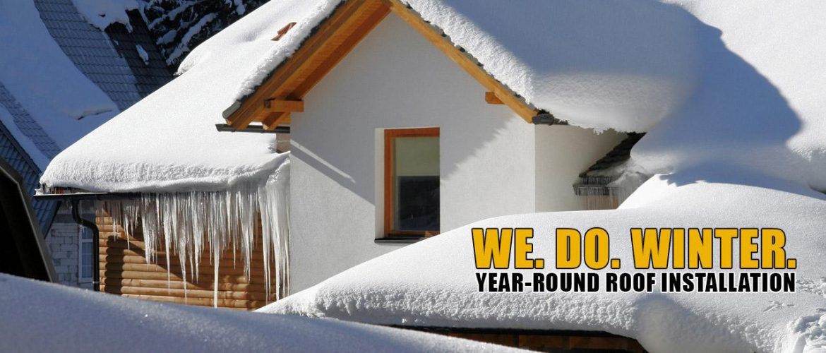 We do winter year-round-metal-roof-shingles-oof installation